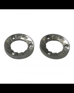 Quality Espresso/Azkoyen Hardened Steel Grinding Blades 64mm - Aftermarket